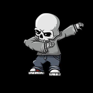 Dabbing Halloween Skeleton by cendav