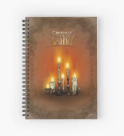 The Journal of Angela Ashby - Candles T-Shirt Spiral Notebook