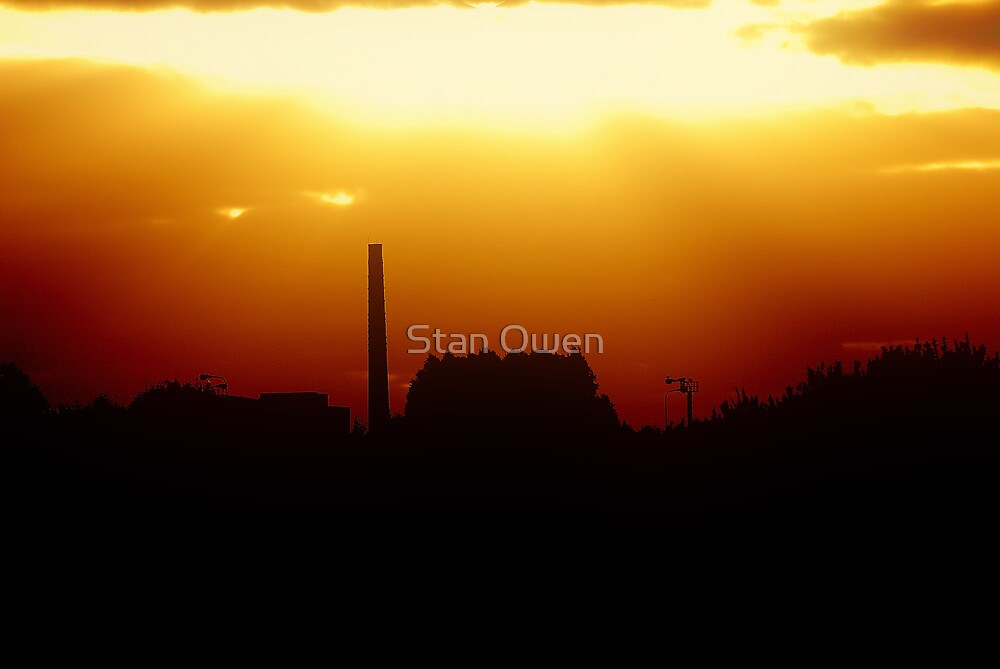 Sunset and a Chimney by Stan Owen