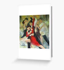 Sentimental tango Greeting Card
