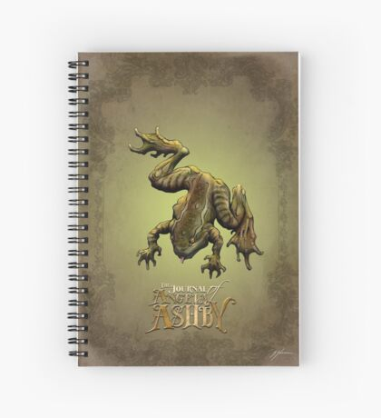 The Journal of Angela Ashby - Frog T-Shirt Spiral Notebook