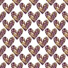 Hearts with decorative effect by starchim01
