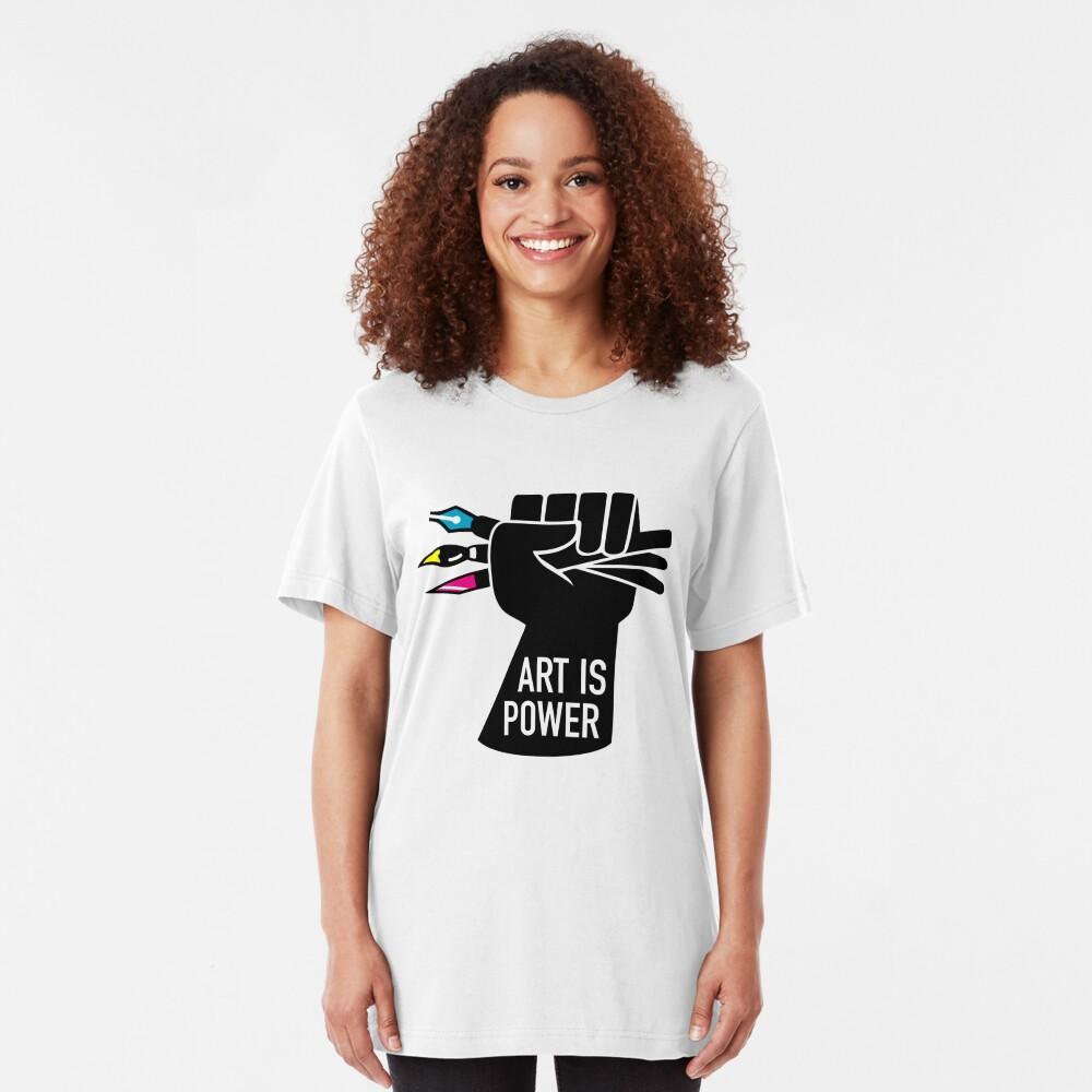 Art is Power Slim Fit T-Shirt
