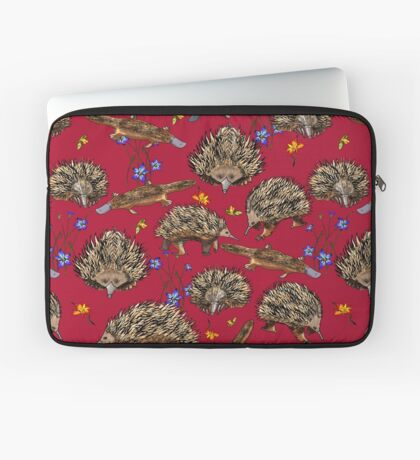 monotremes and wildflowers on cardinal Laptop Sleeve