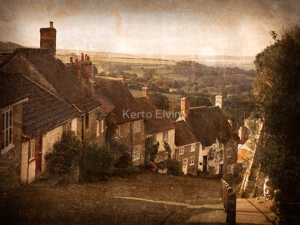 Gold Hill, Shaftesbury by Kerto Elvin