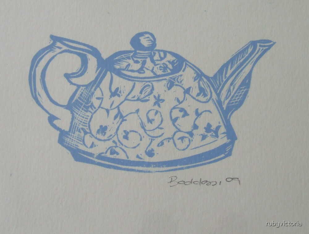 little blue teapot by rubyvictoria