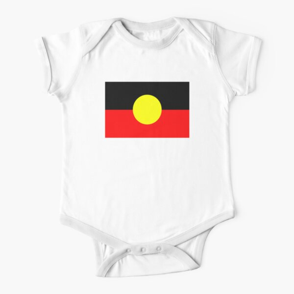 australian aboriginal symbol Short Sleeve Baby One-Piece