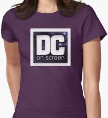 DC on SCREEN Logo (Stars, Border) Women's Fitted T-Shirt