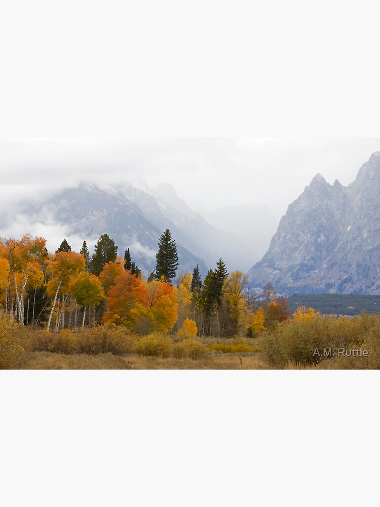 Cascade Canyon, Snow Showers & Fall Color by annruttle
