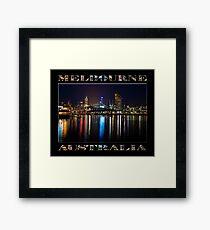 Harbour Lights (poster edition on black) Framed Print