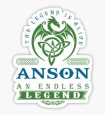 Legend T-shirt - Legend Shirt - Legend Tee - ANSON An Endless Legend Sticker