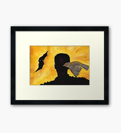 Putting Out Fire Framed Print