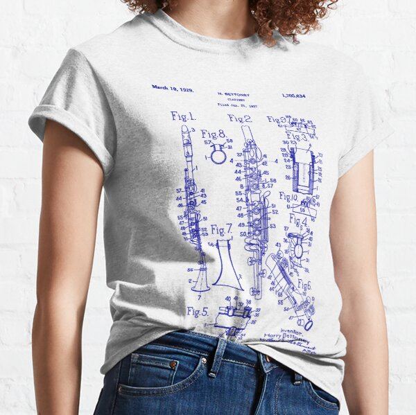 Clarinet Symphony Orchestra Musician Classic T-Shirt