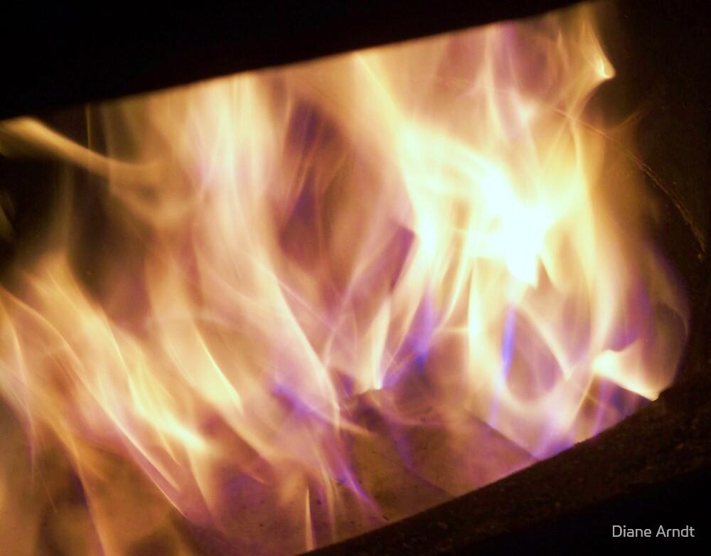 Purple Flames by Diane Arndt