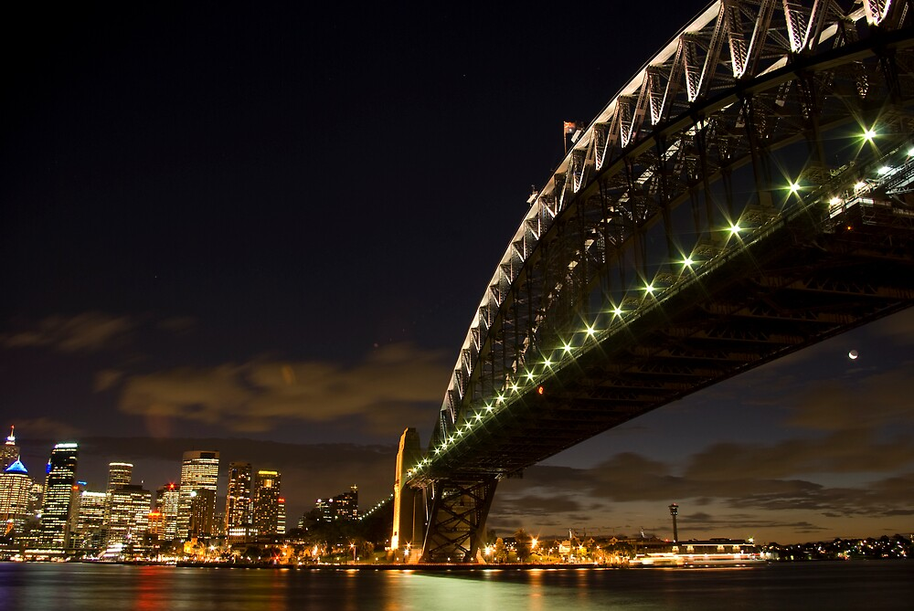 Sydney Harbour Bridge at Night by JaseA