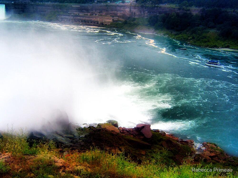 Niagra Falls Canada Watercolor by Rabecca Primeau