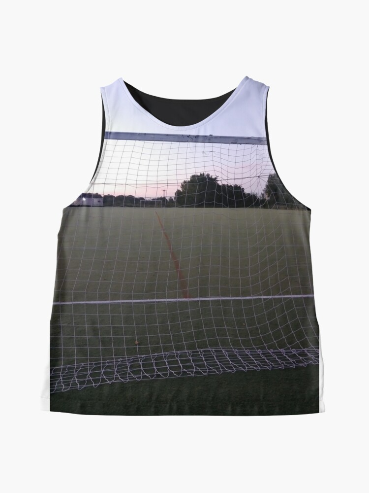 Alternate view of #web, #fence, #goal, #sport, #ball, #soccer, #competition, #stadium Sleeveless Top