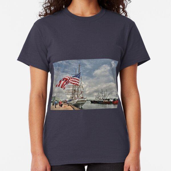 Dramatic scene of the Eagle - Coast Guard Tall Ship! Classic T-Shirt