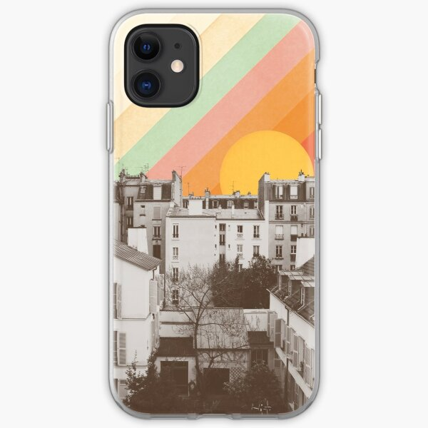 Rainbow Sky Above Paris iPhone Soft Case