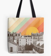 Rainbow Sky Above Paris Tote bag