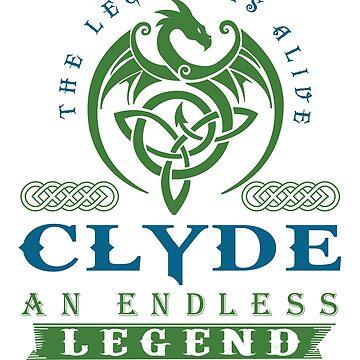 Legend T-shirt - Legend Shirt - Legend Tee - CLYDE An Endless Legend by wantneedlove