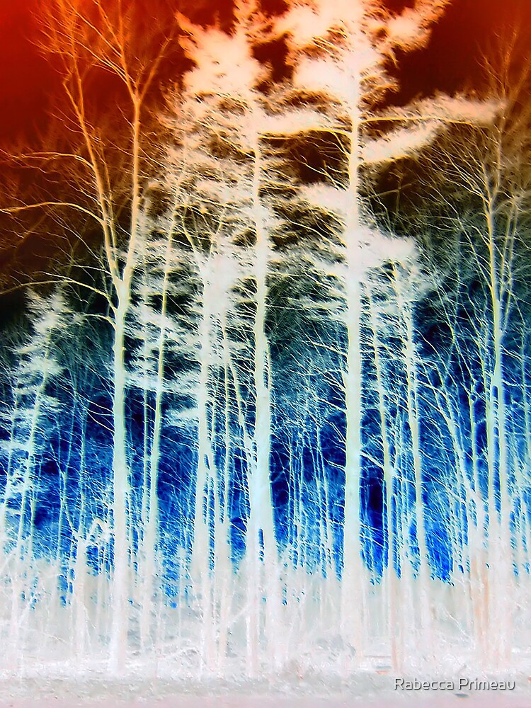 Vibrant Forest Line by Rabecca Primeau