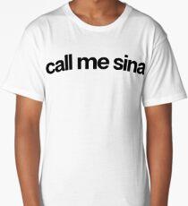Call Me Sina - Hipster Names Tees Girls Long T-Shirt