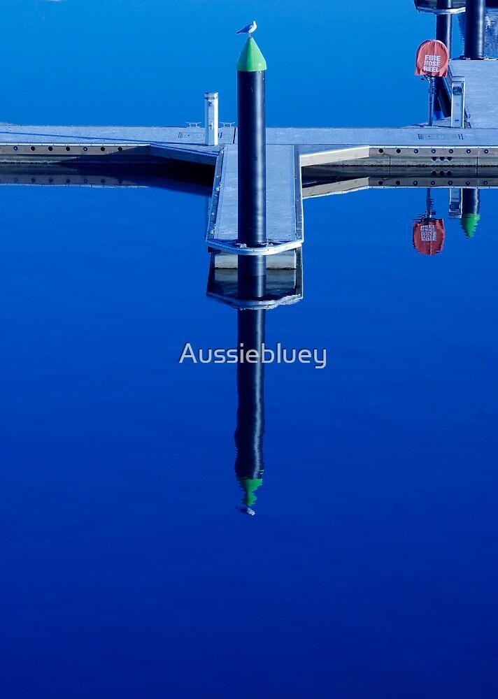Blue Poles by Aussiebluey