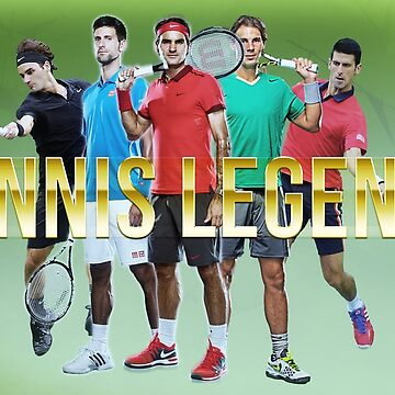 Tennis Legend - Nadal Djokovic and Federer by NIKOisCREATING