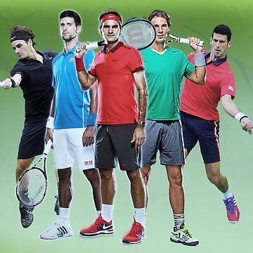 Tennis Legends - Novac Djokovic and Roger Federer by NIKOisCREATING