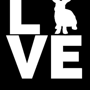 I Love Rabbits White Rabbit Silhouette by LarkDesigns