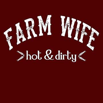 Cute Farm Wife T-Shirt Sassy Farmer Women Tee Shirt Gift by theshirtinator