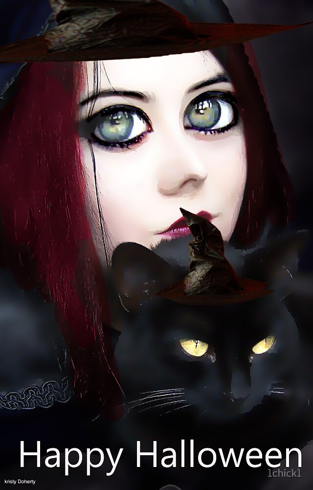 the witch doll and the cat by 1chick1