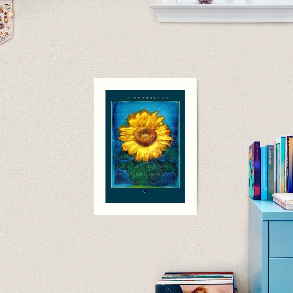 Ho'oponopono Sunflower Cleansing poster Art Print