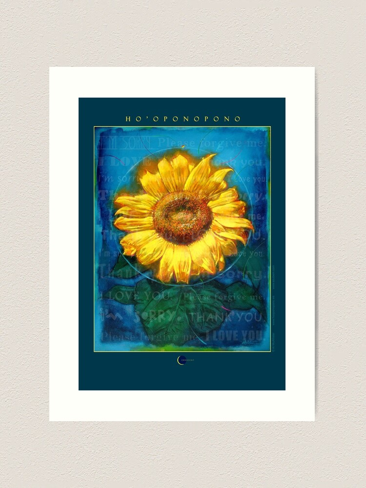 Alternate view of Ho'oponopono Sunflower Cleansing poster Art Print