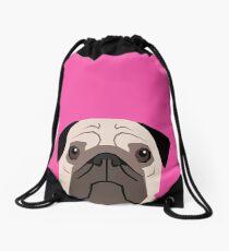 Taylor - Pug dog art phone case for pet lovers and dog people Drawstring Bag