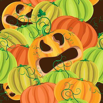 Pumpkin Jack hid among fresh pumpkins by IrinkaArt