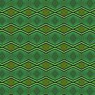 Green Feather Pattern by Warren Paul Harris