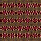 Red Feather Pattern by Warren Paul Harris