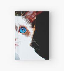 gxp cute cat blue eyes vector art  Hardcover Journal