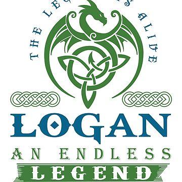 Legend T-shirt - Legend Shirt - Legend Tee - LOGAN An Endless Legend by wantneedlove