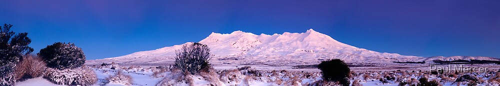 Mount Ruapehu panoramic 2 by Paul Mercer