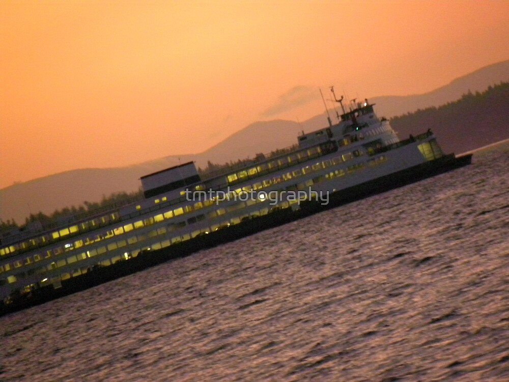 A Sunset Ferry Ride by tmtphotography