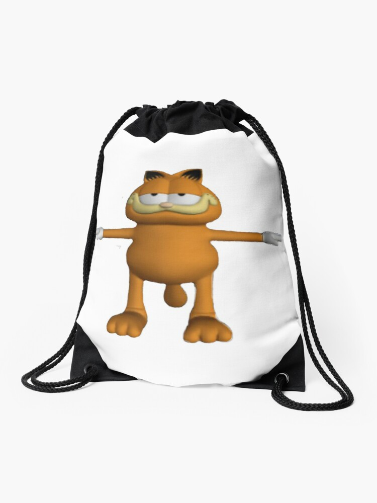 Garfield T Pose Drawstring Bag By Lukamalatest Redbubble