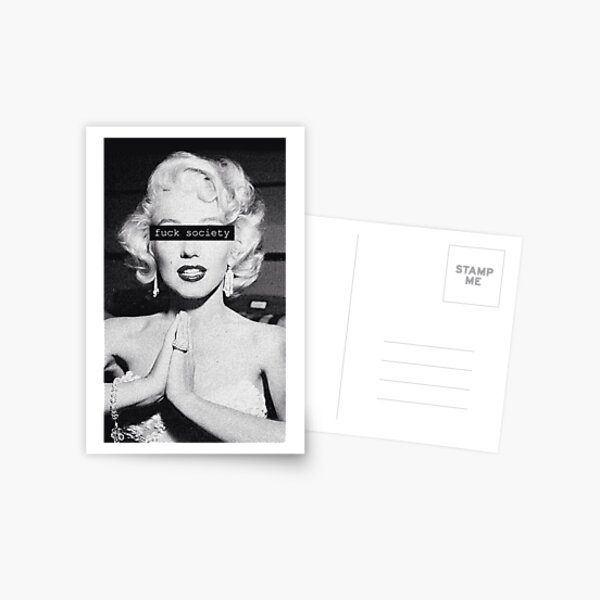 Black and White Marilyn Monroe Pretty Postcard