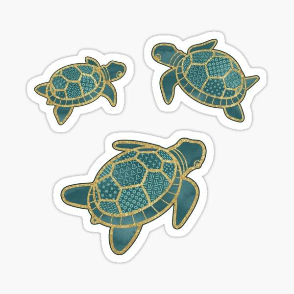 Japanese Pond Turtle / Teal Sticker