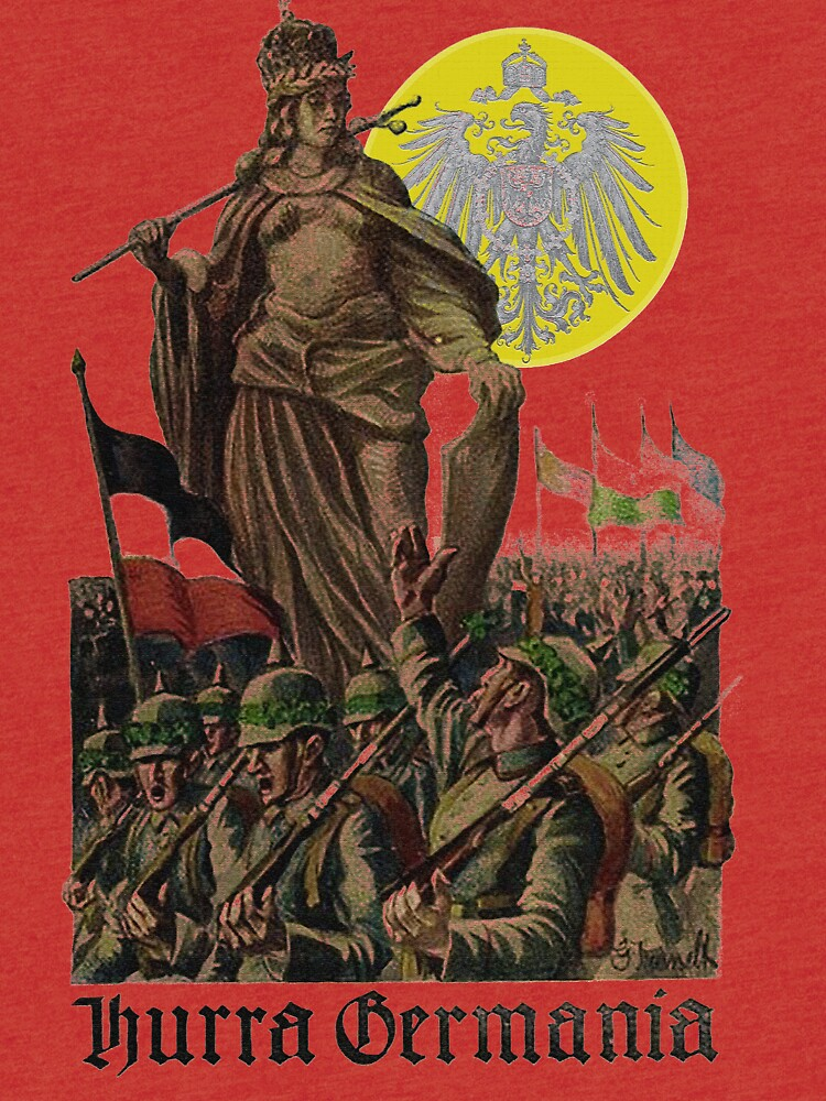 Germania encouraging soldiers.. 1914 by edsimoneit