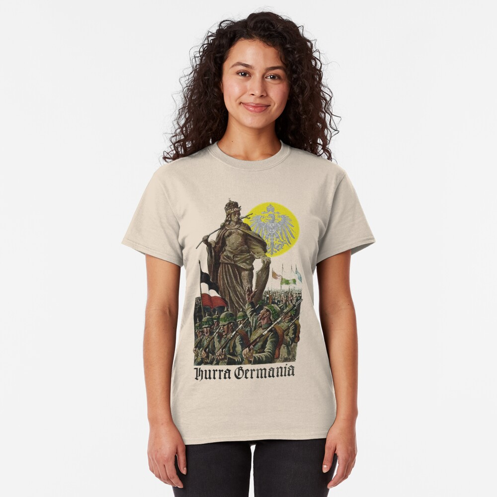 Germania encouraging soldiers.. 1914 Classic T-Shirt