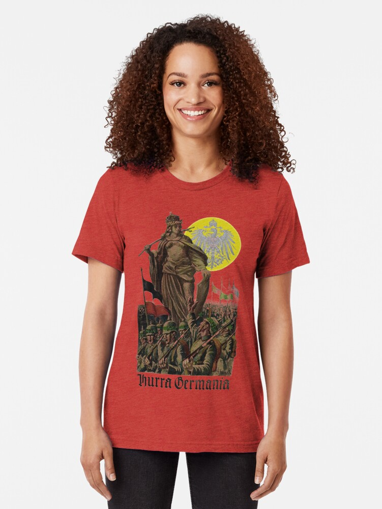 Alternate view of Germania encouraging soldiers.. 1914 Tri-blend T-Shirt