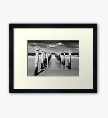 St Clair Beach in monochrome Framed Print